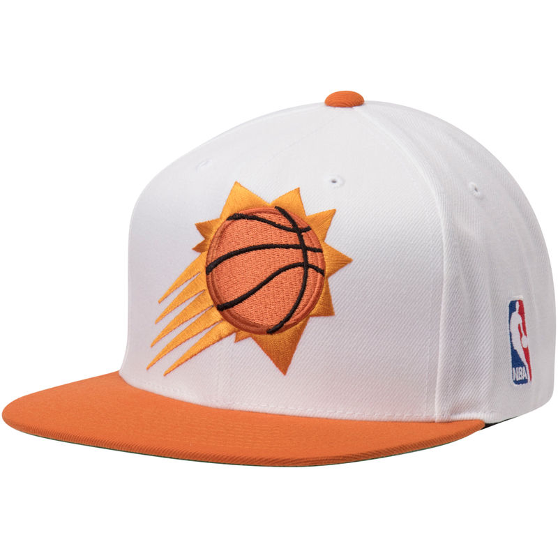771cf9f5b2ec98 Phoenix Suns Mitchell   Ness XL Team Logo Two-Tone Adjustable Snapback Hat  – White Orange
