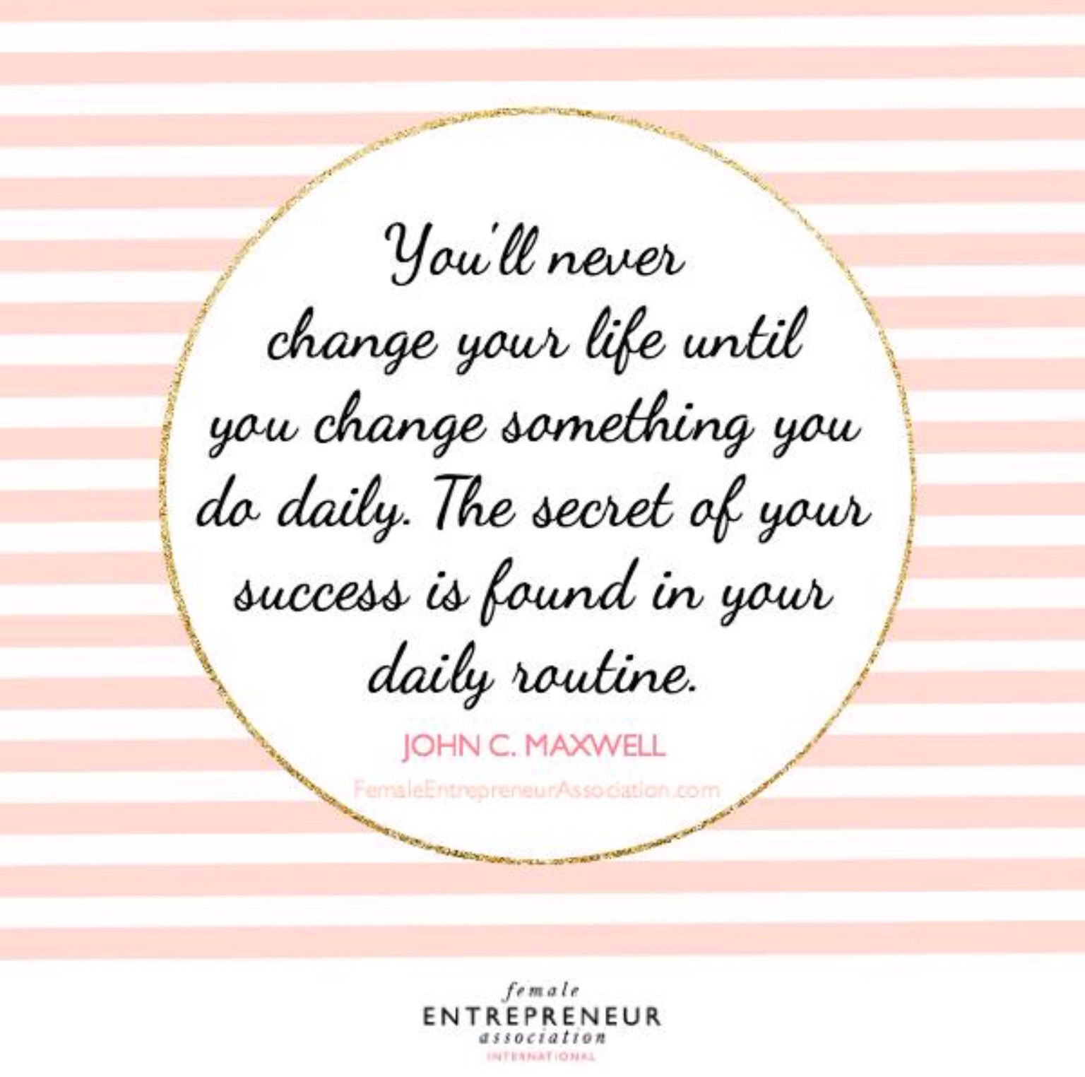 Daily change = success