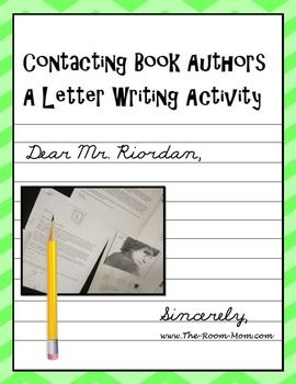 This is a fun author activity that reinforces the proper letter book author letter writing activity freebie spiritdancerdesigns Gallery