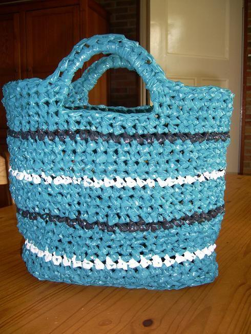 Zelfgemaakt Gehaakte Plastic Tas Met Uitleg Haken Pinterest