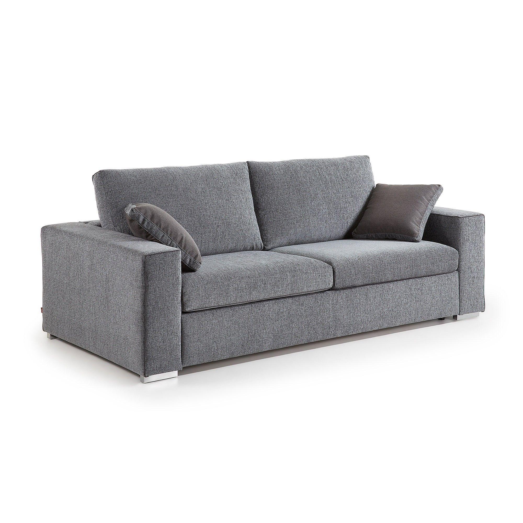 Canapé-lit Big 180 viscoelástique gris chiné en 2019 ...