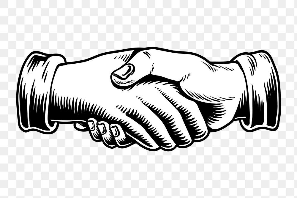 Shaking Hands In An Agreement Design Element Free Image By Rawpixel Com Tvzsu Hand Logo Shaking Hands Tattoo Hand Illustration