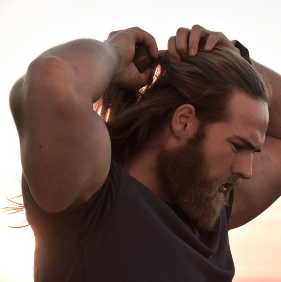 This guys images will never get old bicep tricep longhair