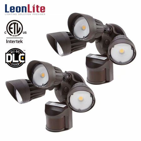 30W 3-Head Motion Activated LED Outdoor Security Light Photo Sensor 150W