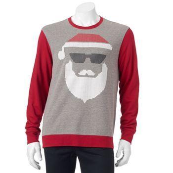 Santa Face Christmas Sweater - Men