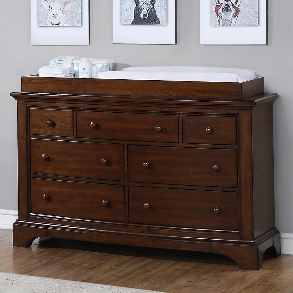 extra wide dresser and topper set