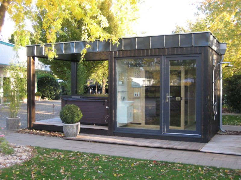 Pin by spacecube on container conversions sauna gartenhaus haus - Gartenhaus container ...