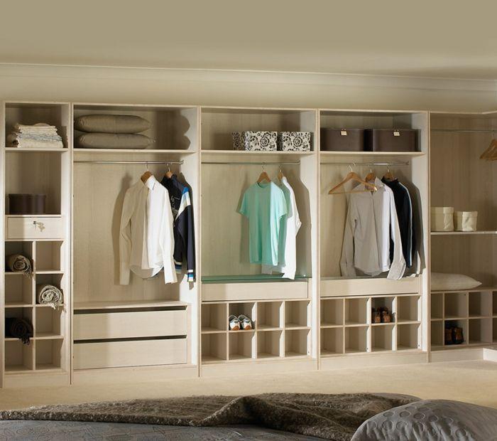 kleiderschrank ohne turen wohnideen. Black Bedroom Furniture Sets. Home Design Ideas