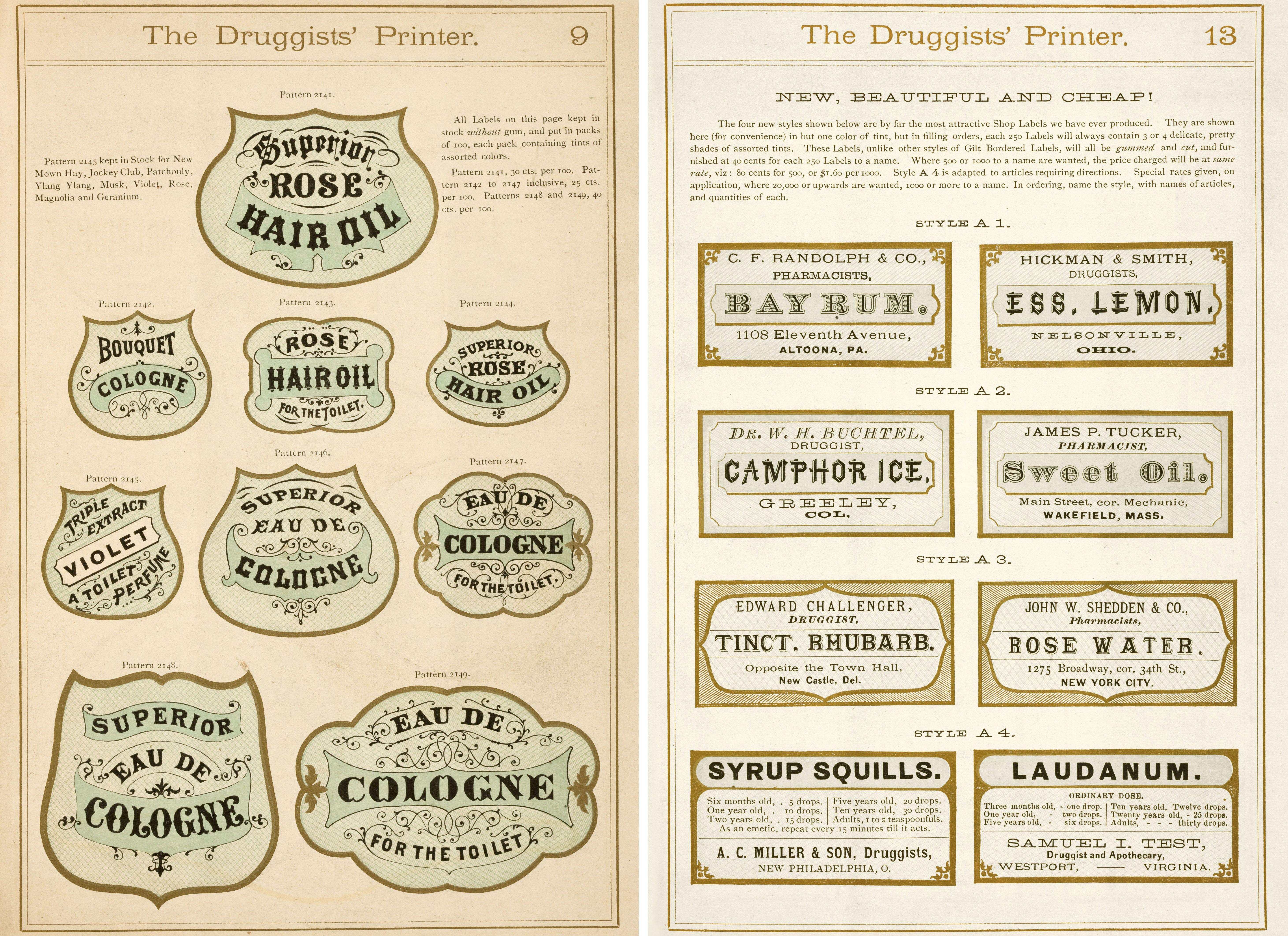 A bit of antique label typography | Design | Pinterest ...