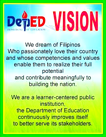 Teacher Fun Files Deped Vision Mission And Core Values In 2020 High School Bulletin Boards Classroom Bulletin Boards Elementary Classroom Rules Poster
