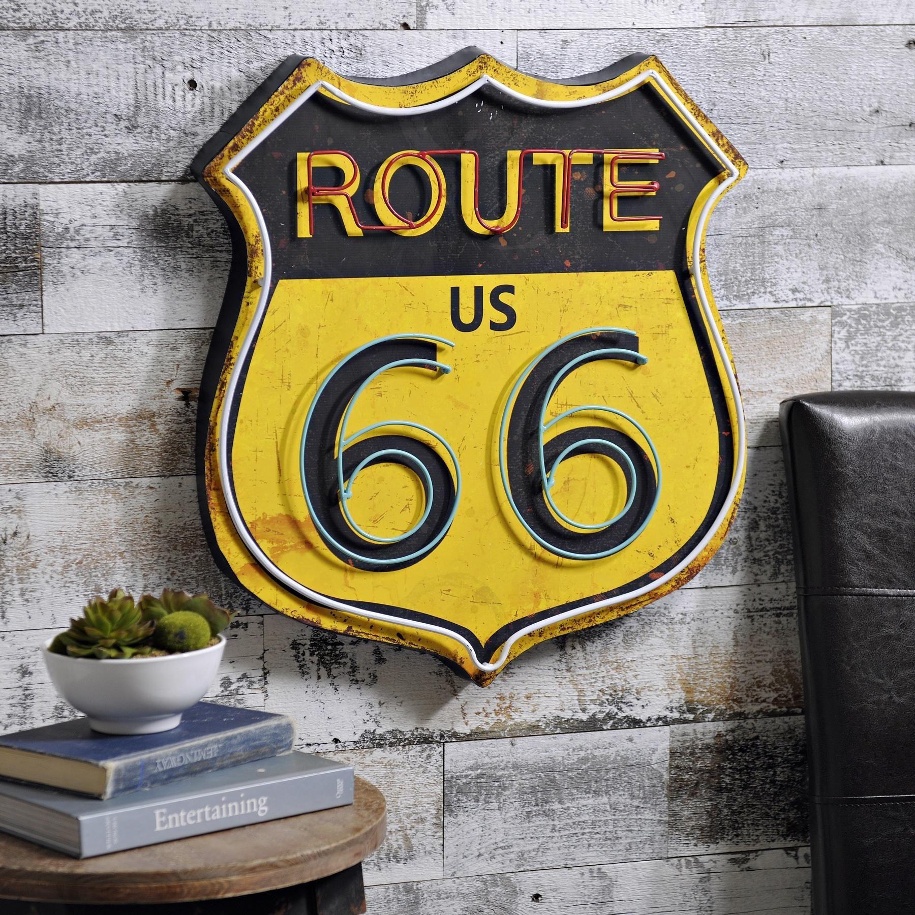 Retro Route 66 Metal Plaque | ~route 66~ | Pinterest | Metal plaque ...