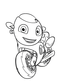 Nice Coloring Page Ricky Zoom 2 On Kids N Fun In 2021 Ladybug Coloring Page Coloring Pages Cool Coloring Pages