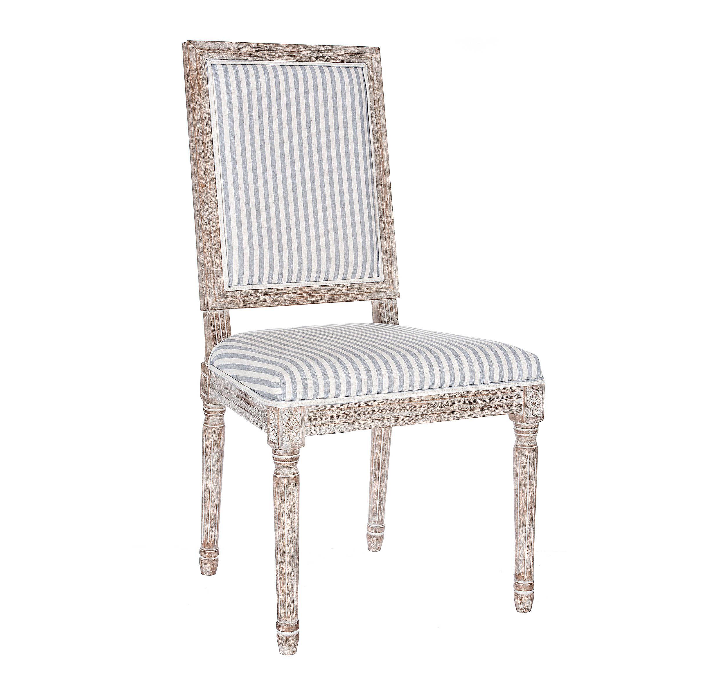 Gray Stripe Rectangular Louis Dining Chair   Striped dining ...