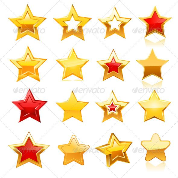 Gold Star Icon Set Icon Set Gold Stars Best Icons