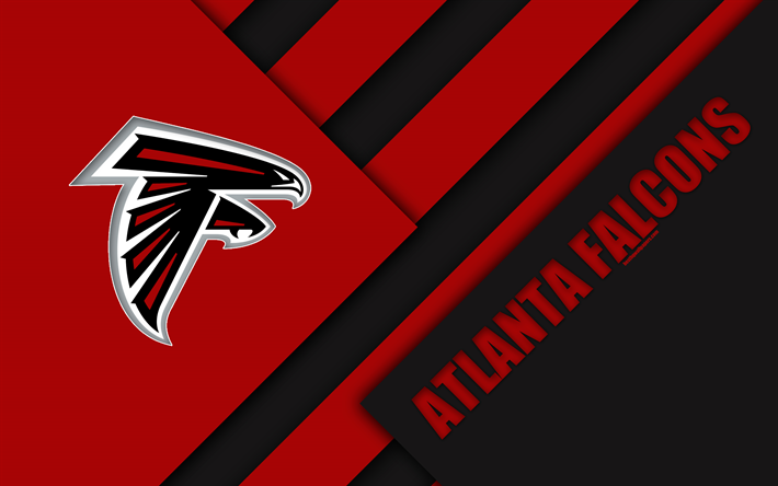 Atlanta Falcons Logo Photos Nfl Iphone Wallpapers: Download Wallpapers Atlanta Falcons, 4K, Logo, NFL, Red