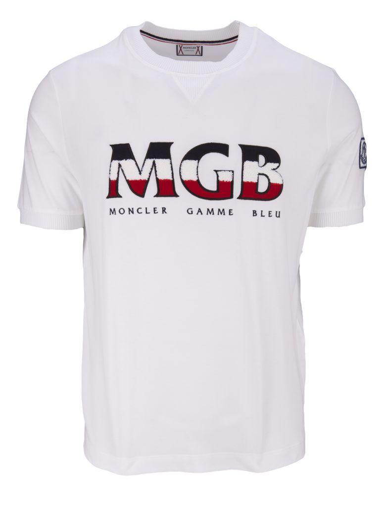 bb030b6ae Moncler Gamme Bleu Moncler Logo Print Sweatshirt T-Shirt - White