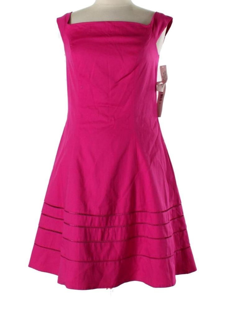 New Women Badgley Mischka Hot Pink Casual Cocktail Dress Spring ...
