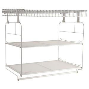 Rubbermaid 23 In Closet Helper Shelf And Hang Unit 1834035 At