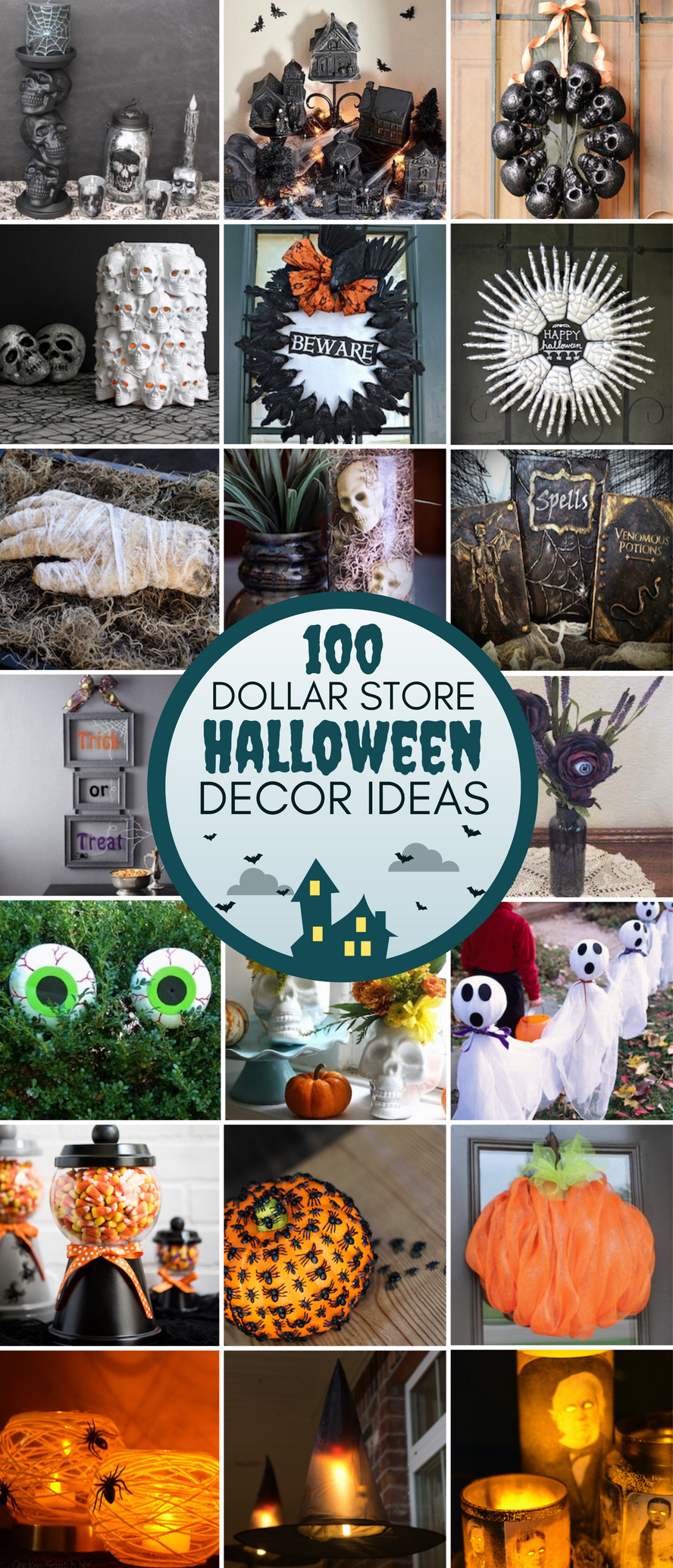 100 Dollar Store Halloween Decor DIY Ideas Dollar store