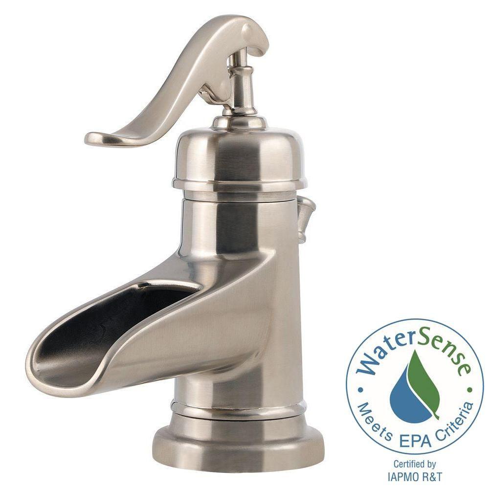 Pfister Ashfield 4 in. Centerset Single-Handle Bathroom Faucet in ...
