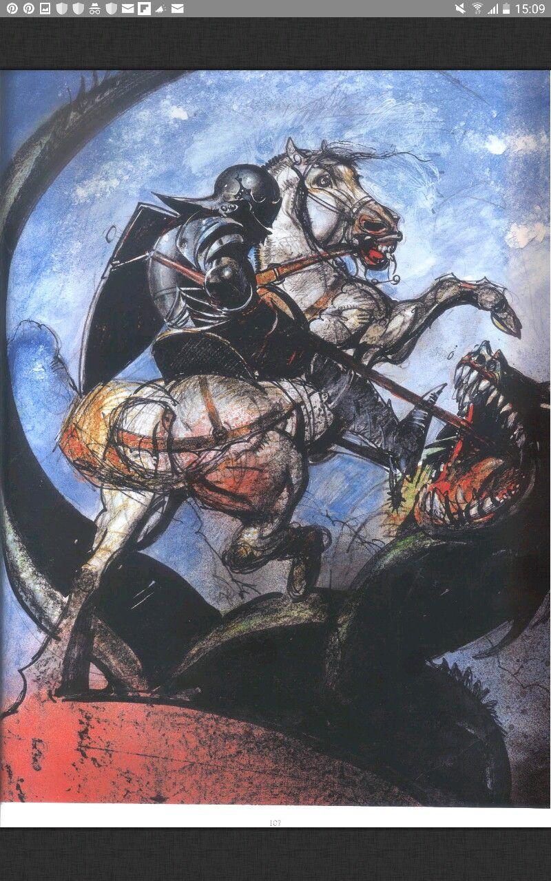 Simon Bisley Simon bisley, Saint and the dragon