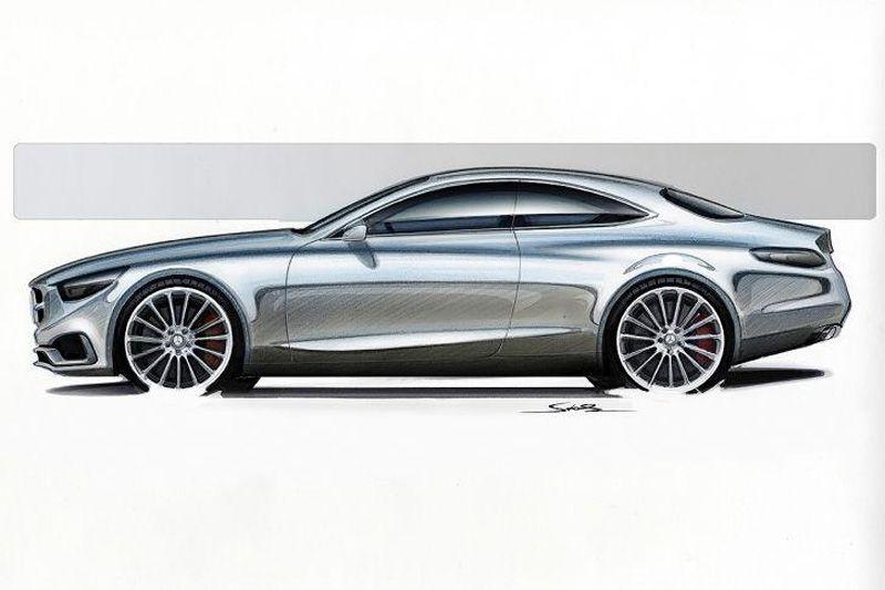 Mercedes Benz S Class Coupe Concept Design Sketch Car Design