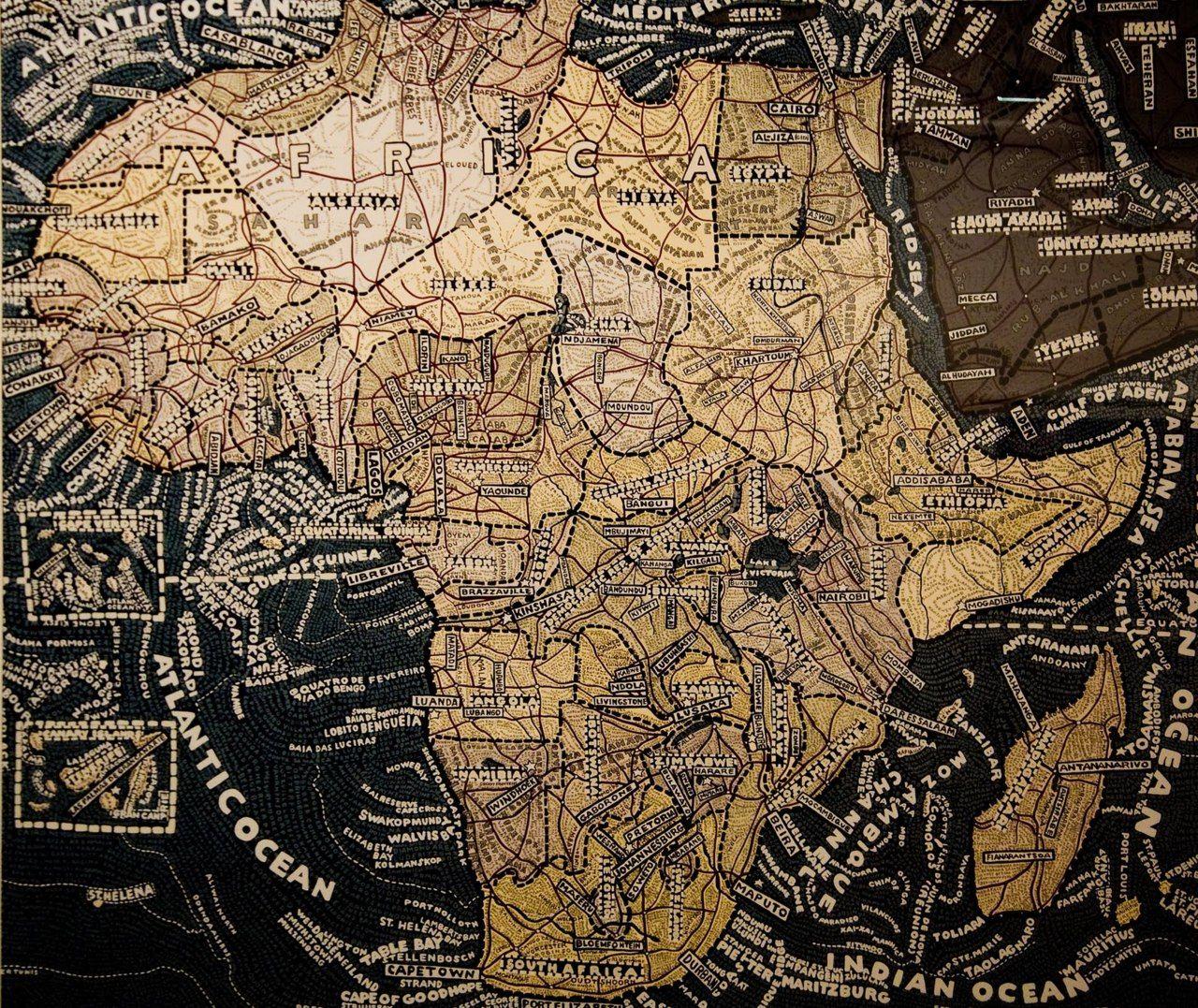 Louisiana Map Alexandria%0A Africa       Paula Scher creates intricate typographic maps  beartsy blogspot com
