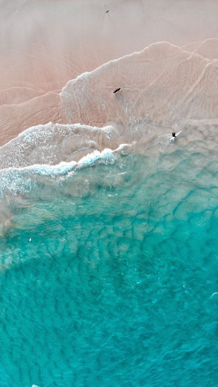 iPhone and Android Wallpapers Aerial Beach View Wallpaper
