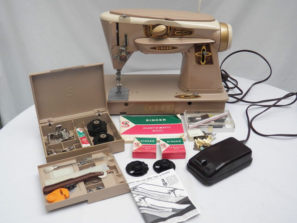 Rocketeer Singer Sewing Machine Slant O Matic 40A Xtra Accessories Gorgeous Singer Sewing Machine 500a Manual