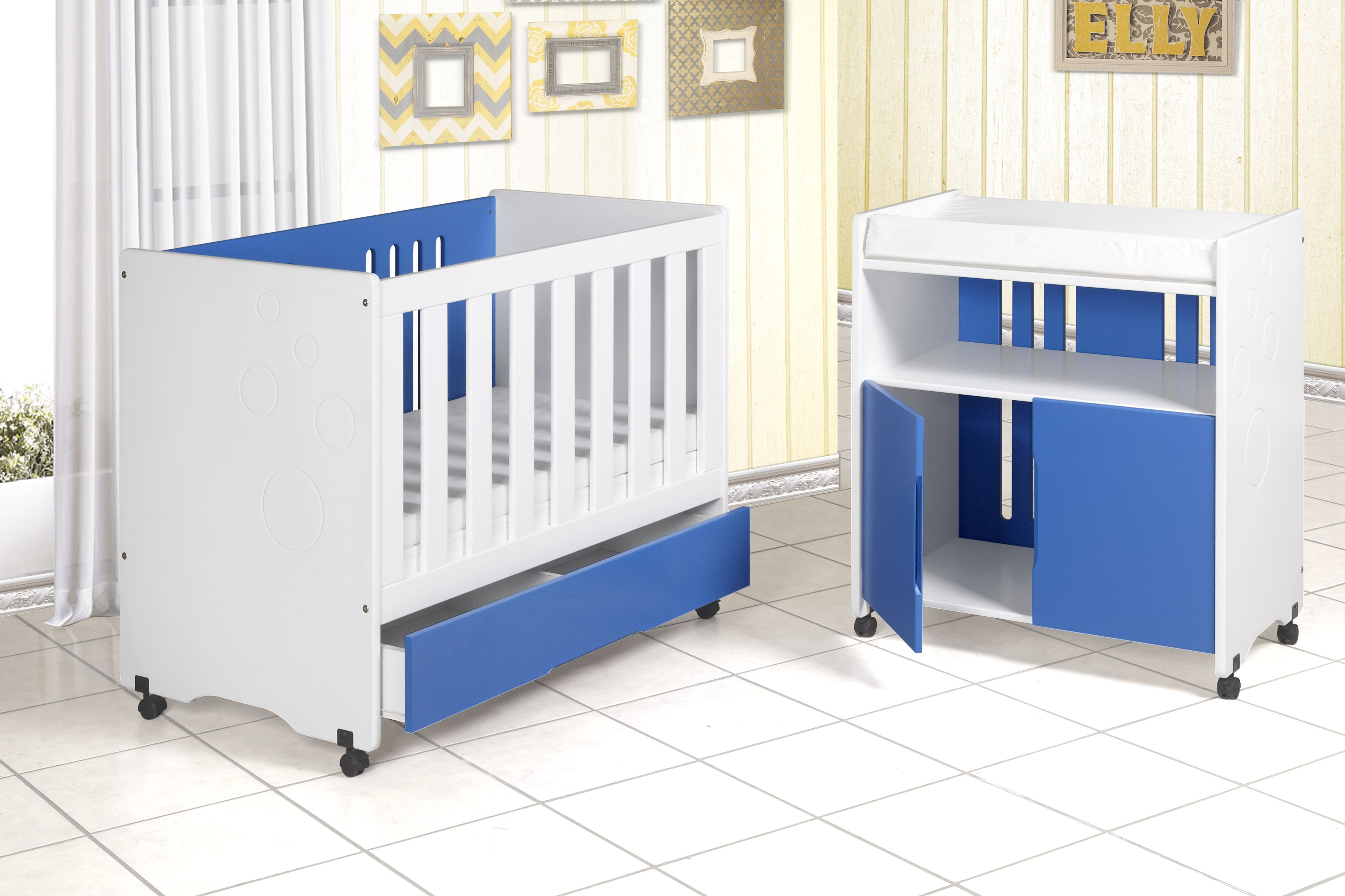 Tempo Furniture Bubble Cot Baby Changer