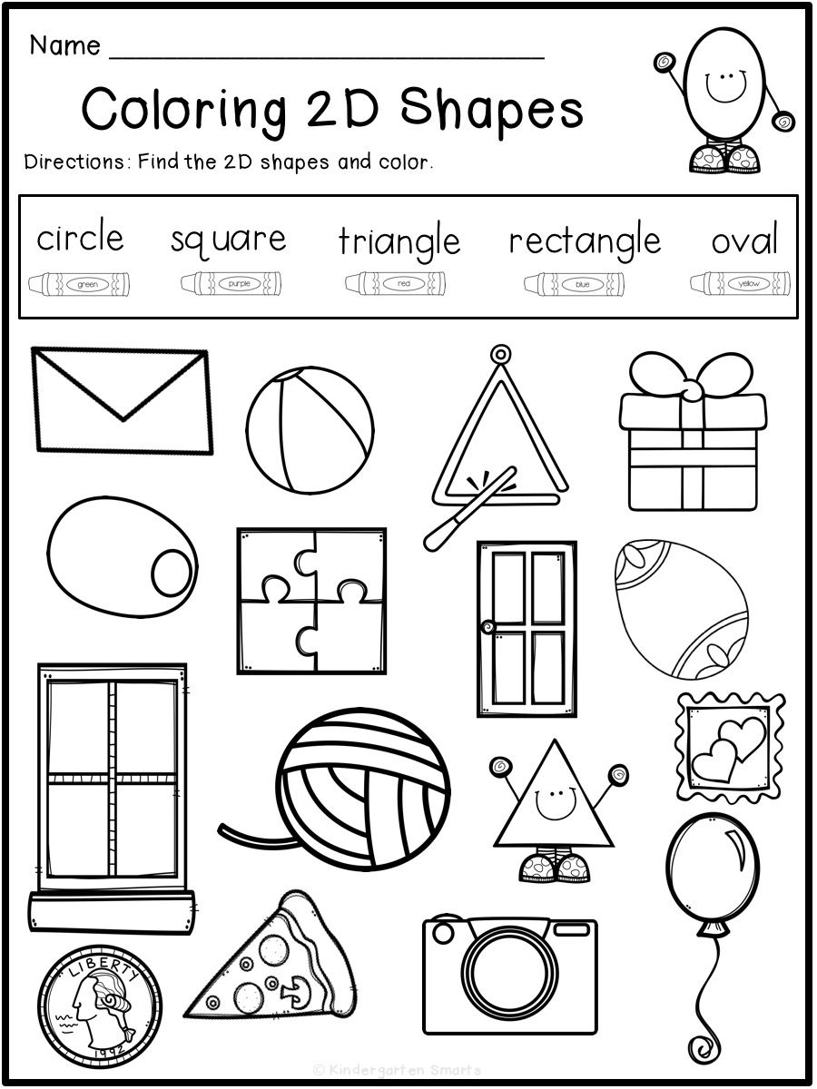 Summer Review Free With Images Shapes Worksheet Kindergarten