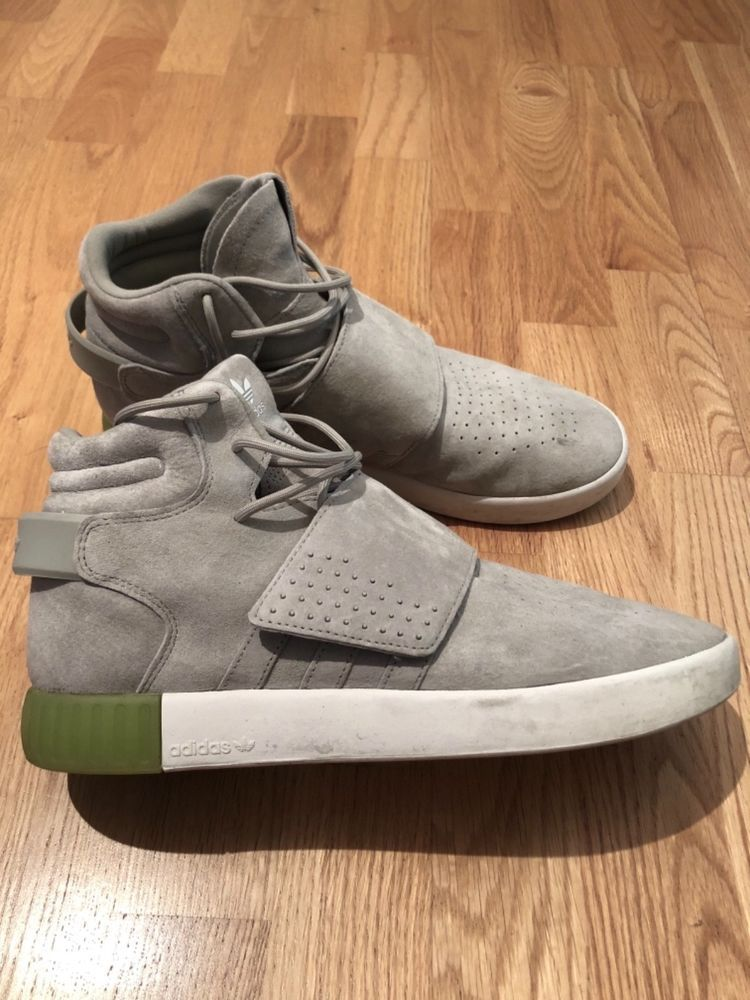 new styles 12169 d9c49 Adidas - Tubular Invader Strap Suede (Grey) [Size 10.5 ...