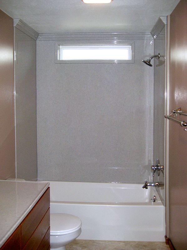 Bathroom tub reglazing shower inserts resurface surrounds for Bathroom enclosure designs