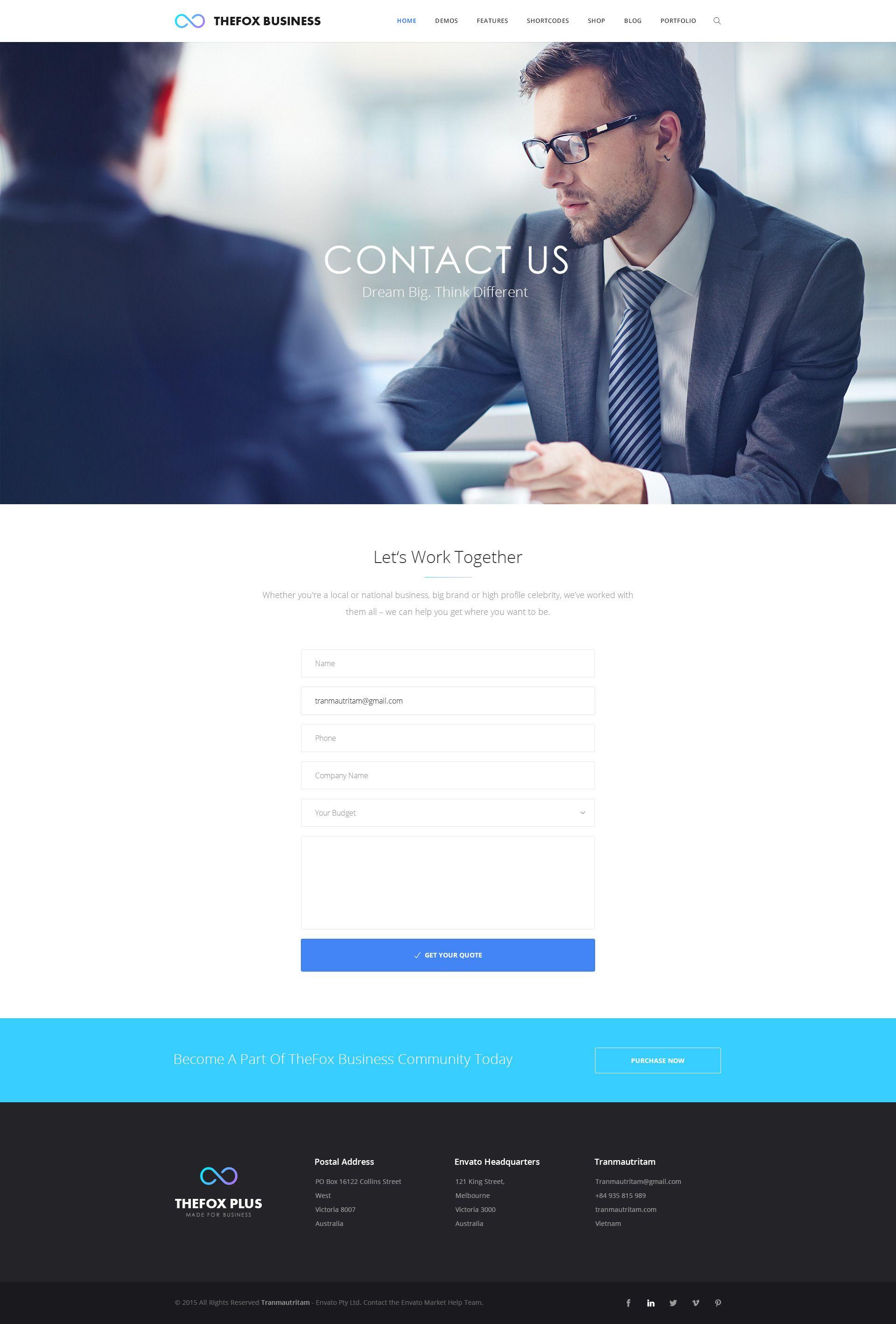 TheFox Business PSD Template - PSD Templates | ThemeForest