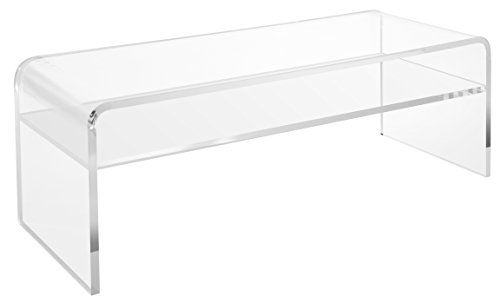Clear Acrylic Coffee Table With Shelf Entryway And Bedr