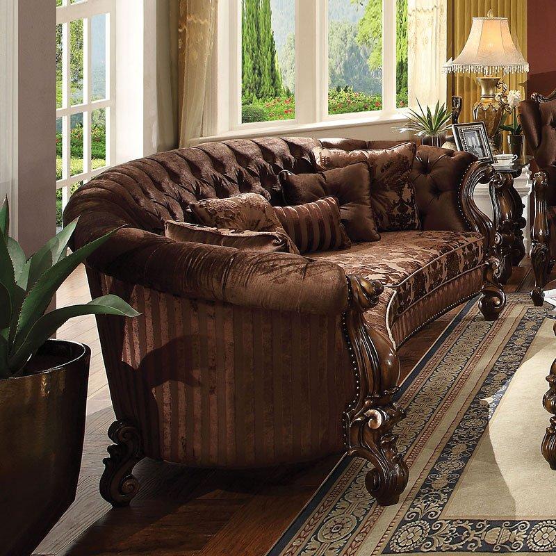 Versailles Crescent Sofa Brown Velvet Rustic Living Room Living Decor Brown Living Room #versailles #living #room #set
