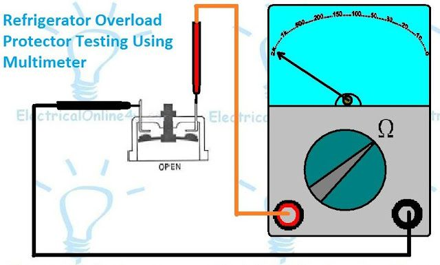 Refrigerator thermal overload testing   electrical diagrams