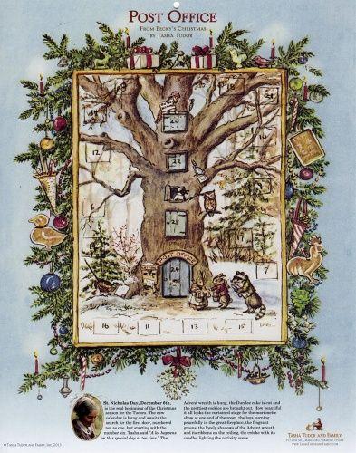 Making Your Own Advent Calendars - Tasha Tudor and Family