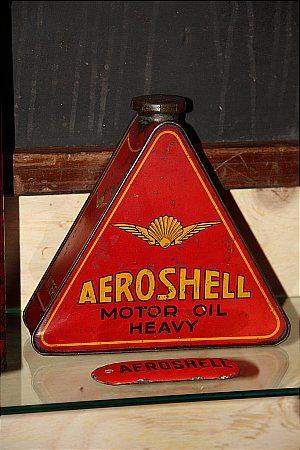 Aeroshell Aero Shell Pinup RARE garage gasoline vintage round metal  sign