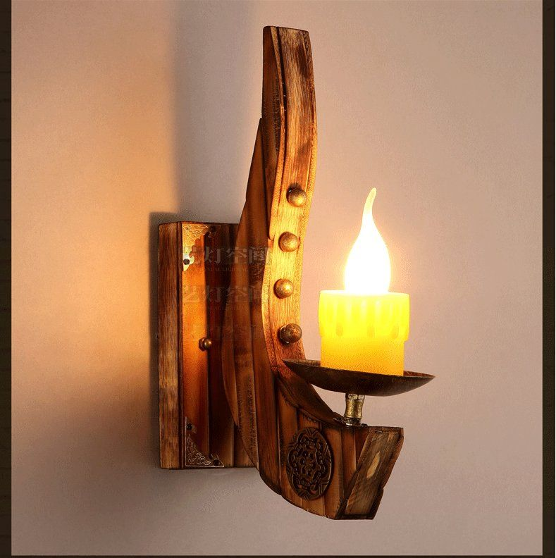 Vintage wall sconce antique brass birch wood light lamp industrial vintage wall sconce antique brass birch wood light lamp industrial retro solid wall lamp e27 light mozeypictures Image collections