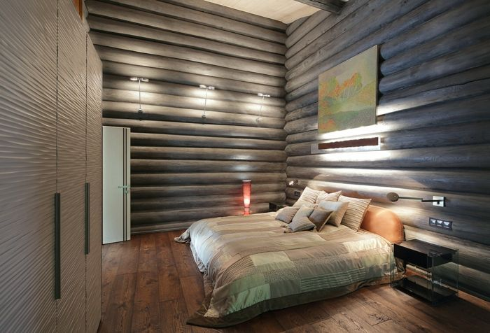 Wohnideen Holzhaus schlafzimmereinrichtung traumhaus kleines holzhaus wohnideen