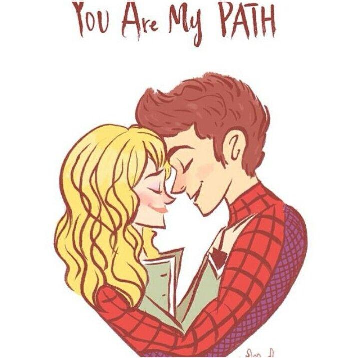 Gwen And Peter Cute Fan Art