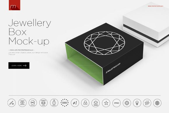 Download Jewellery Box Mock Up Mockup Templates Mockup Branding Mockups