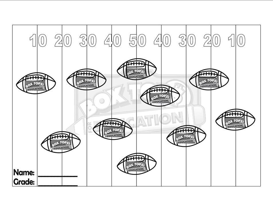Box Tops Collection Sheets | Box Top Collection Form Box Top ...
