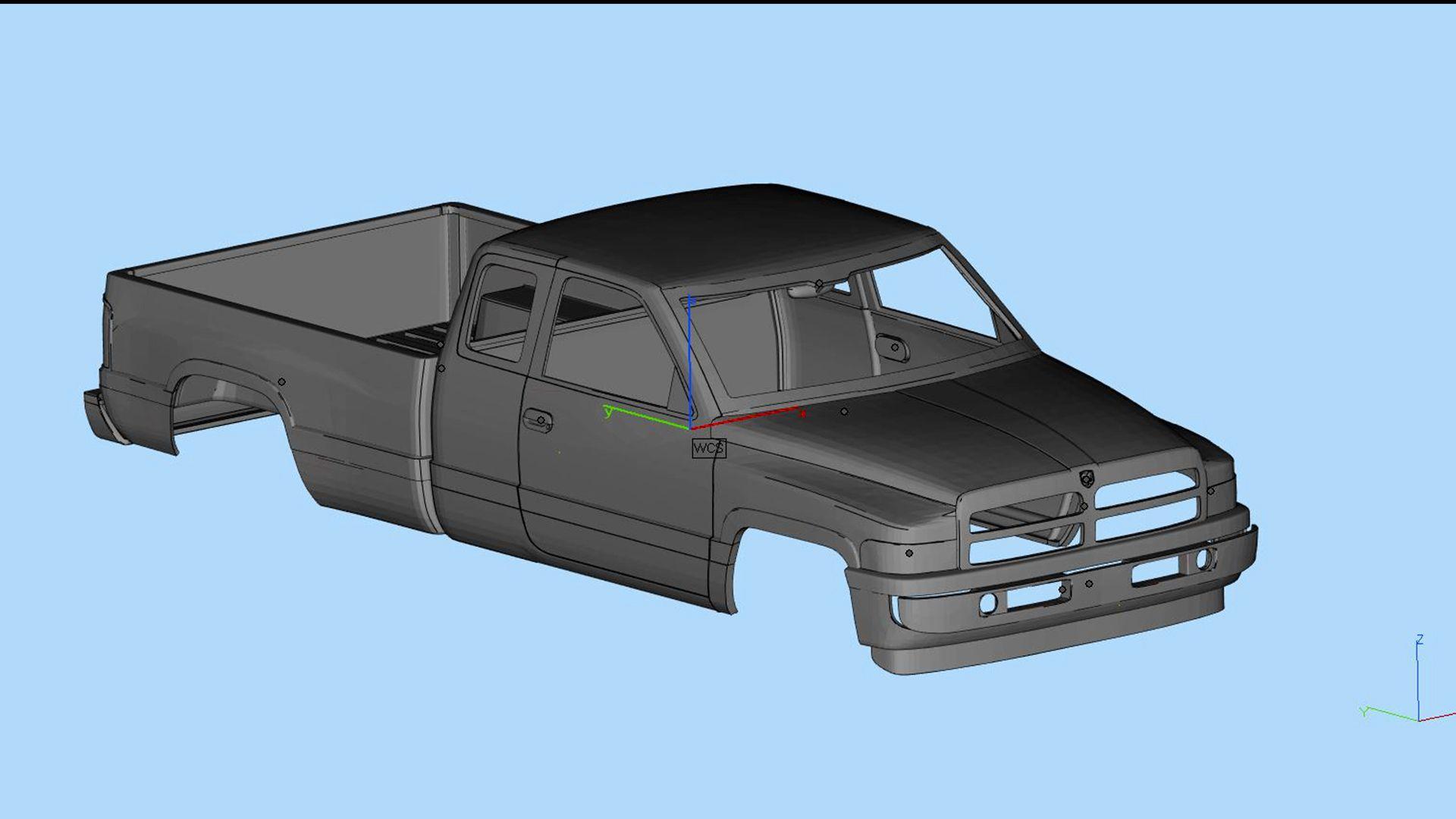 3d Model Dodge Ram 1500 2nd Gen Stl Files Printable Body 3d Print Model Dodge Ram 1500 Ram 1500 Dodge Ram