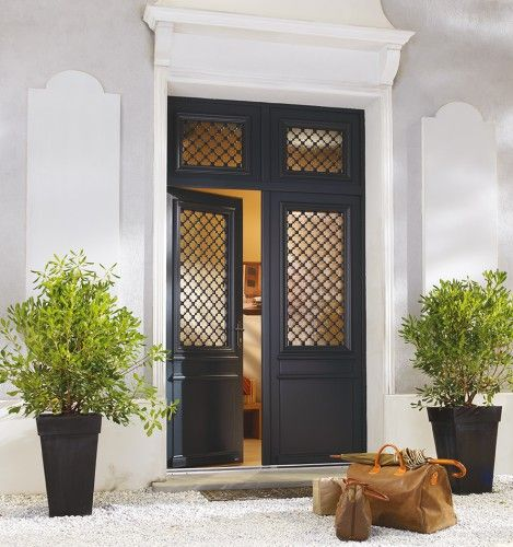 Montmartre porte d 39 entr e bois classique mi vitr e bel 39 m - Porte d entree bel m prix ...