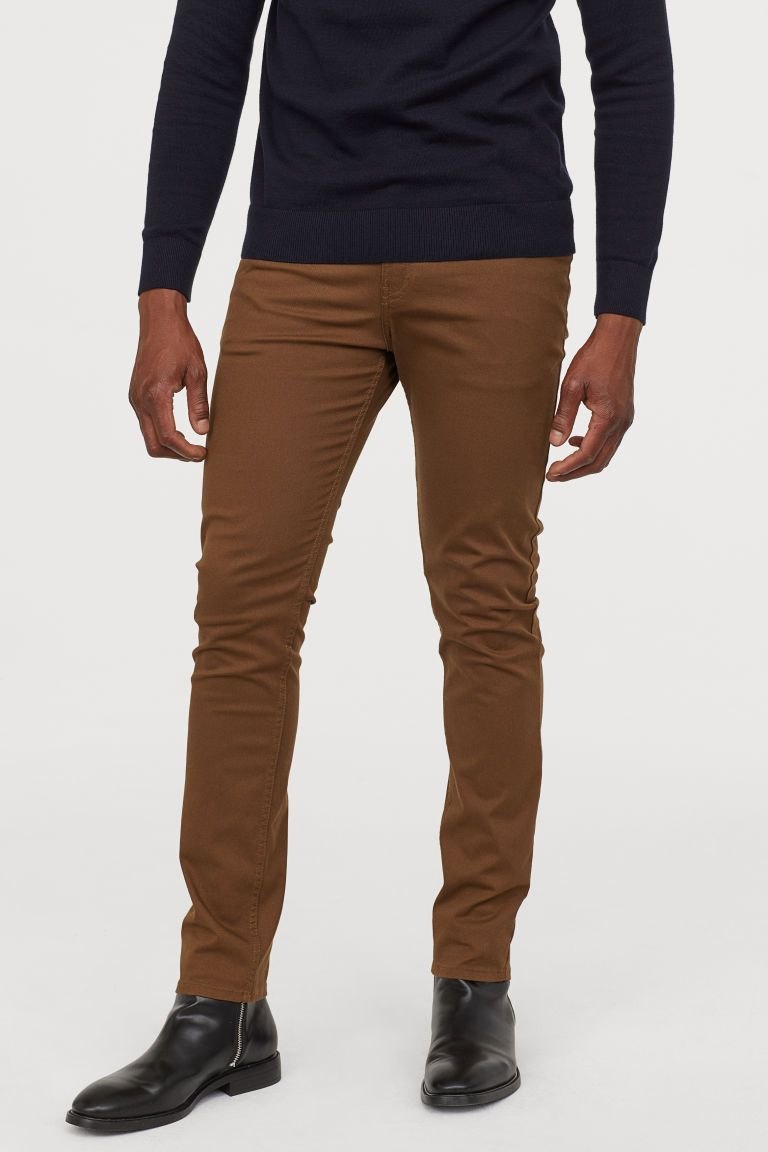 New Mens Chinos Slim Fit Stretch Twill Trousers Jeans Smart Casual Pants