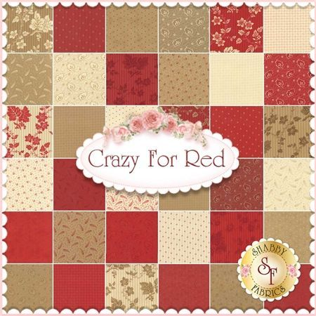 Image result for crazy for red fabric | fabric | Pinterest | Red ... : crazy quilt fabric packs - Adamdwight.com