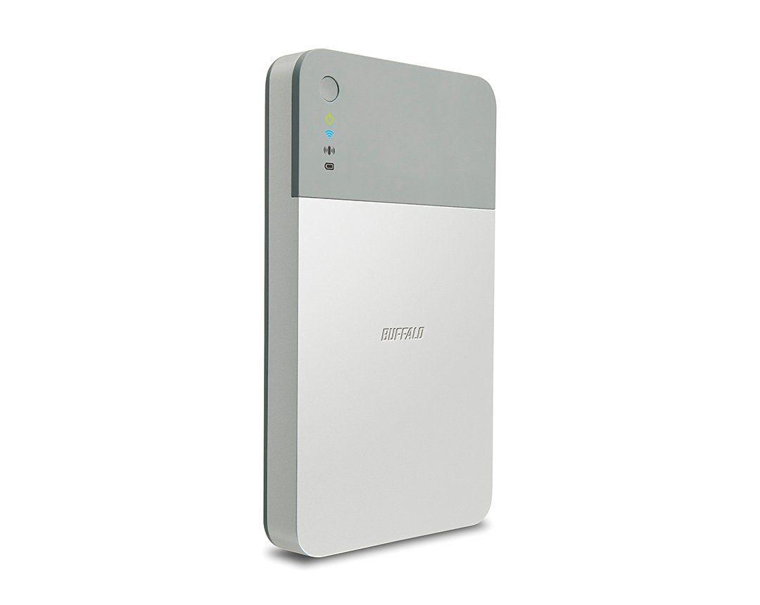 BUFFALO ミニステーション エア Wi-Fi接続ポータブルHDD 1TB HDW-PD1.0U3 ケーブルを繋がなくてもスマホやPCとデータ ...