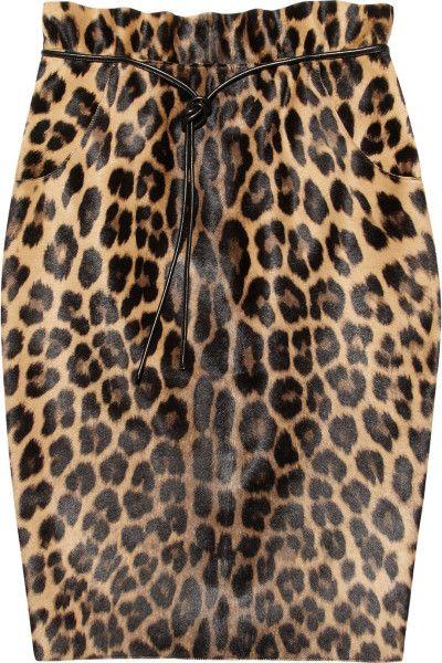 acea63b8c582 Women's Leopard Print Calf Hair Pencil Skirt | Animal Instinct ...